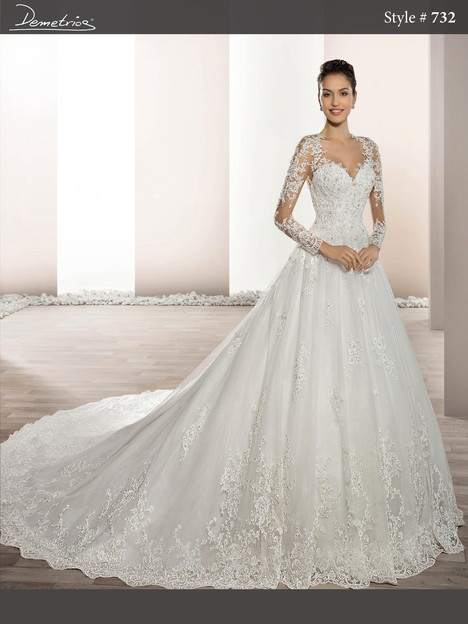732 Wedding                                          dress by Demetrios Bride
