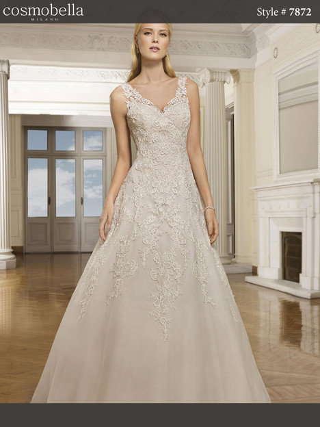 7872 gown from the 2018 Cosmobella collection, as seen on dressfinder.ca