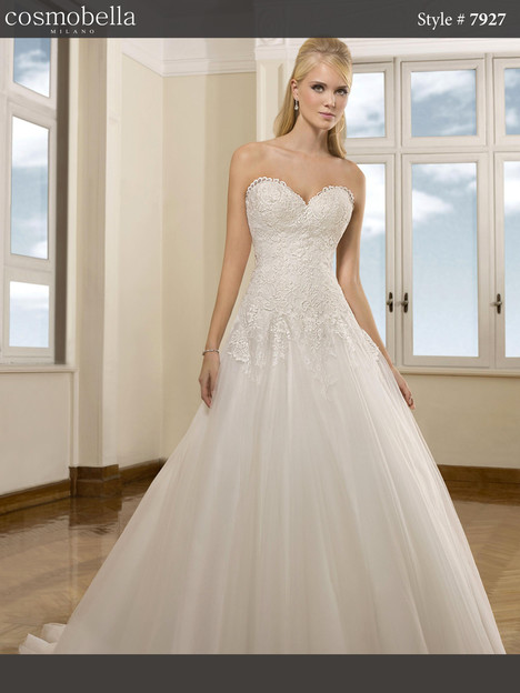 7927 gown from the 2018 Cosmobella collection, as seen on dressfinder.ca