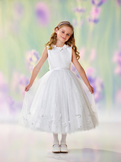 118301 (white) Flower Girl                                      dress by Joan Calabrese