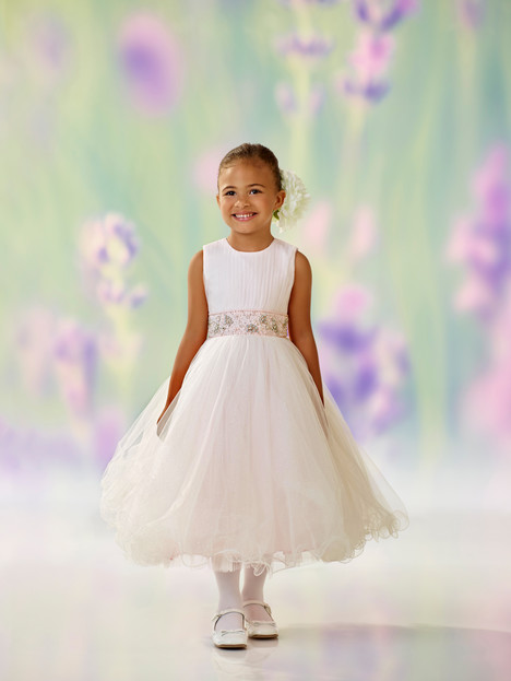 118303 (ivory + white + pink) Flower Girl                                      dress by Joan Calabrese
