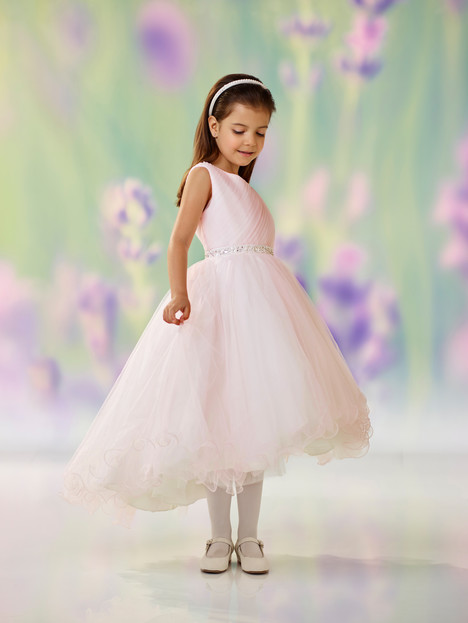 118307 (pink + ivory) Flower Girl                                      dress by Joan Calabrese