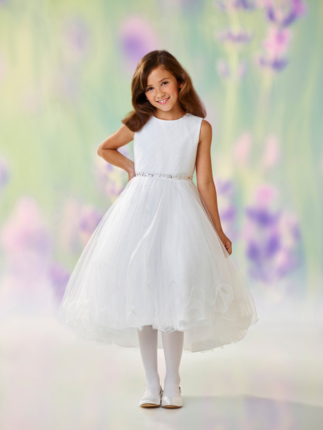 118307 (white) Flower Girl                                      dress by Joan Calabrese