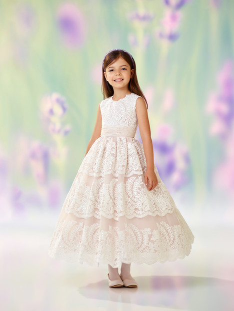 118309 (ivory + stone) Flower Girl                                      dress by Joan Calabrese
