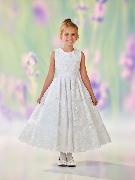 118309 (white) Flower Girl                                      dress by Joan Calabrese