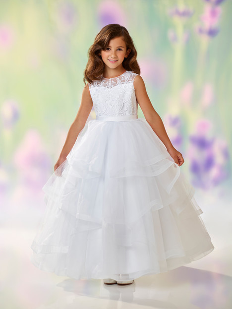 118310 (white) Flower Girl                                      dress by Joan Calabrese