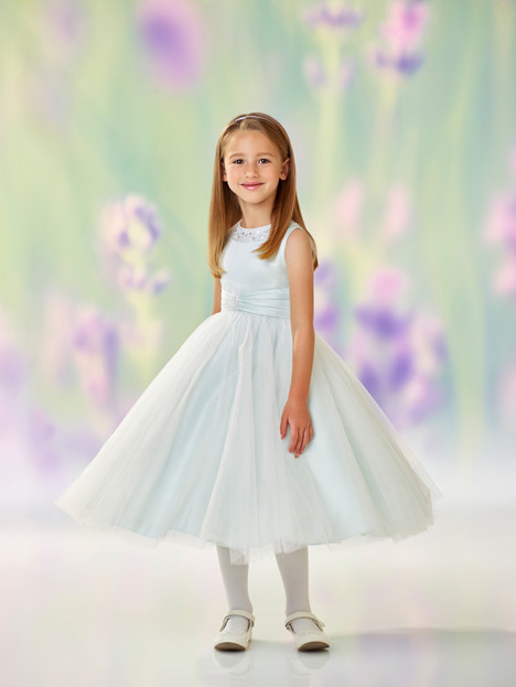 118312 (mist) Flower Girl                                      dress by Joan Calabrese