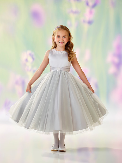 118312 (platinum) Flower Girl                                      dress by Joan Calabrese
