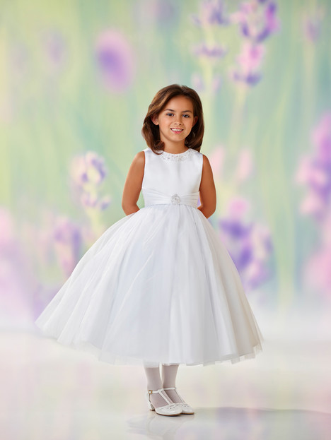 118312 (white) Flower Girl                                      dress by Joan Calabrese