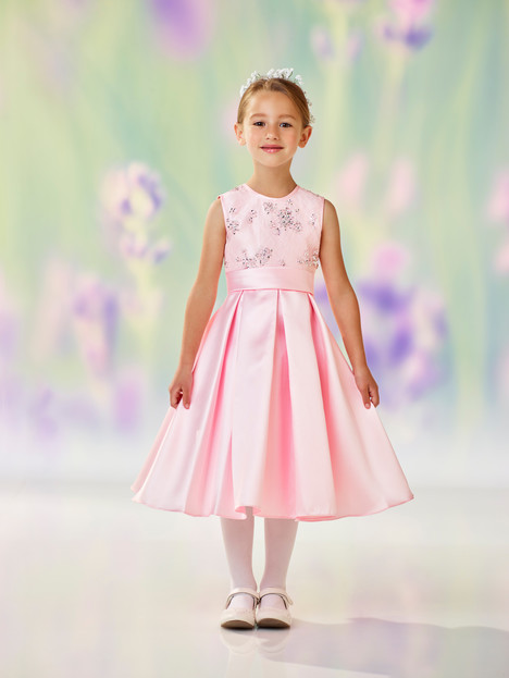 118313 (pink) Flower Girl                                      dress by Joan Calabrese