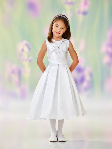 118313 (white) Flower Girl                                      dress by Joan Calabrese