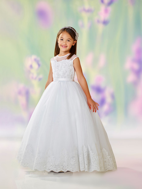 118318 (white) Flower Girl                                      dress by Joan Calabrese