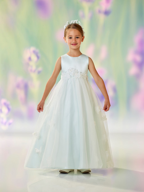 118320 (mist) Flower Girl                                      dress by Joan Calabrese