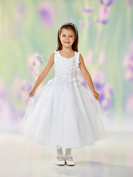 118321 (white) Flower Girl                                      dress by Joan Calabrese
