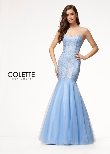 CL18203 (Blue) Prom                                             dress by Colette by Mon Cheri