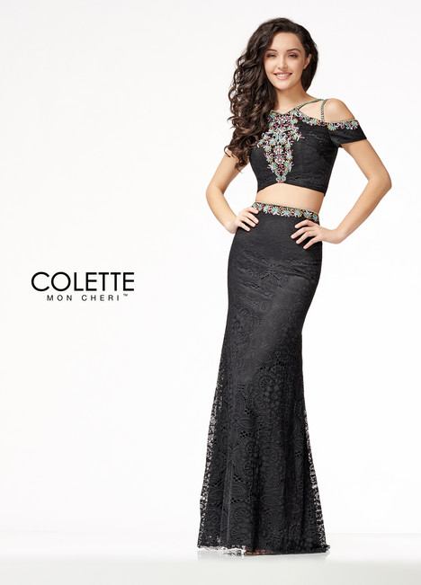 CL18207 (Black) Prom                                             dress by Colette by Mon Cheri