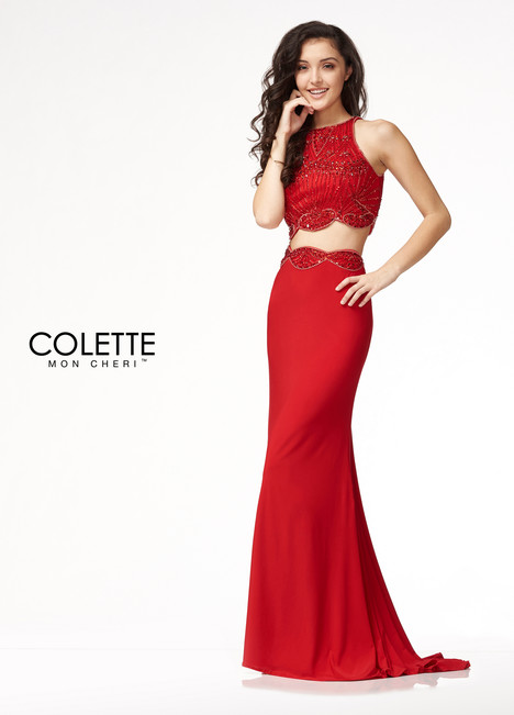 CL18210 (Red) Prom                                             dress by Colette by Mon Cheri