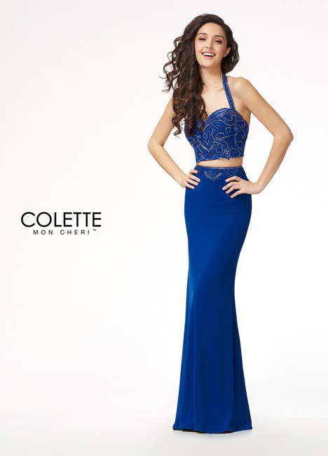 CL18219 (Blue) Prom                                             dress by Colette by Mon Cheri