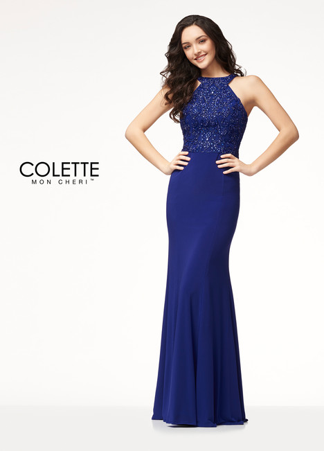 CL18221 (Blue) Prom                                             dress by Colette by Mon Cheri