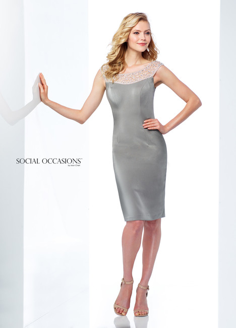 118864 (Grey) Mother of the Bride                              dress by Mon Cheri : Social Occasions