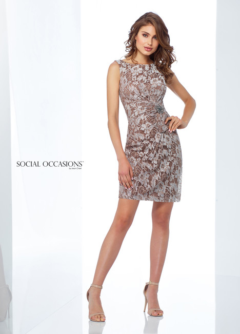 118868 (Mocha) Mother of the Bride                              dress by Mon Cheri : Social Occasions