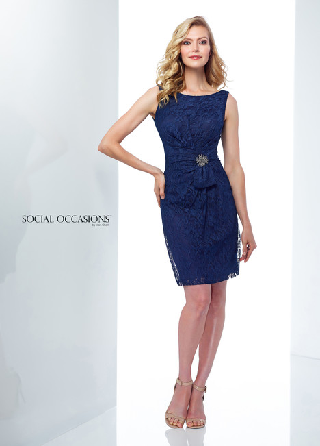 118868 (Navy) Mother of the Bride                              dress by Mon Cheri : Social Occasions