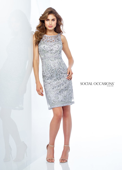 118871 (Silver) Mother of the Bride                              dress by Mon Cheri : Social Occasions