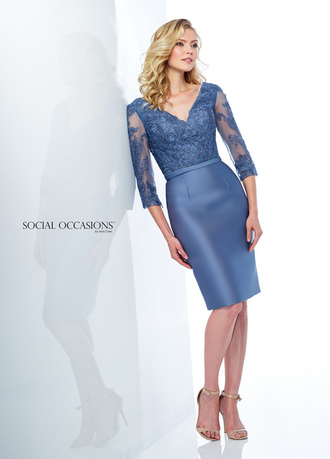 118873 (Blue) Mother of the Bride                              dress by Mon Cheri : Social Occasions