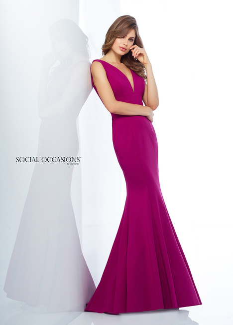118877 (Fuchsia) Mother of the Bride                              dress by Mon Cheri : Social Occasions