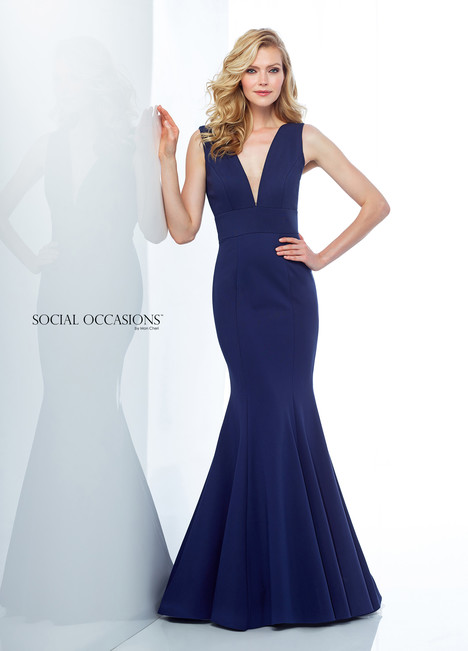 118877 (Navy) Mother of the Bride                              dress by Mon Cheri : Social Occasions