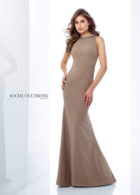 118878 (Mocha) Mother of the Bride                              dress by Mon Cheri : Social Occasions