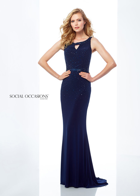 118881 (Blue) Mother of the Bride                              dress by Mon Cheri : Social Occasions