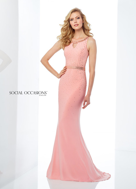 118881 (Melon) Mother of the Bride                              dress by Mon Cheri : Social Occasions