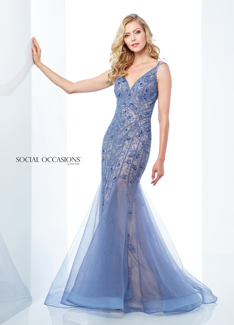 118885 (Blue) Mother of the Bride                              dress by Mon Cheri : Social Occasions