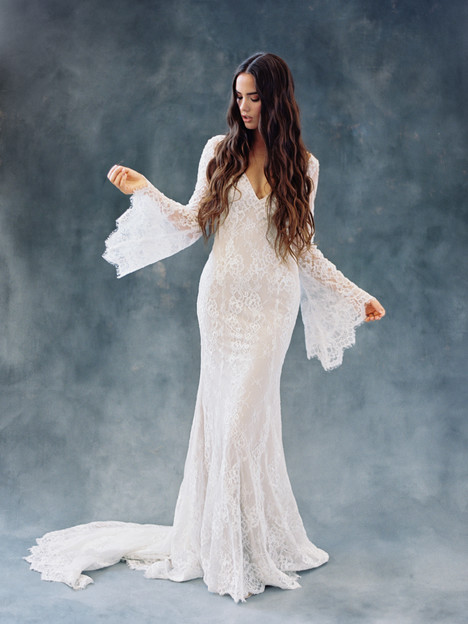 F108-Sage Wedding                                          dress by Wilderly Bride