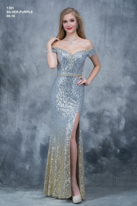 1361 (silver) Prom                                             dress by Nina Canacci