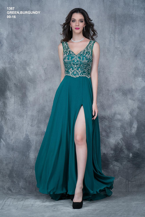 1367 (green) Prom                                             dress by Nina Canacci