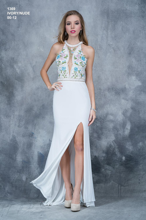 1369 (ivory) Prom                                             dress by Nina Canacci