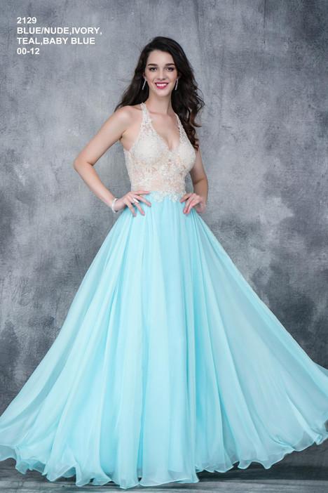 2129 (baby blue) Prom                                             dress by Nina Canacci