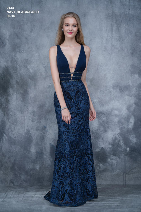 2143 (navy) gown from the 2018 Nina Canacci collection, as seen on dressfinder.ca