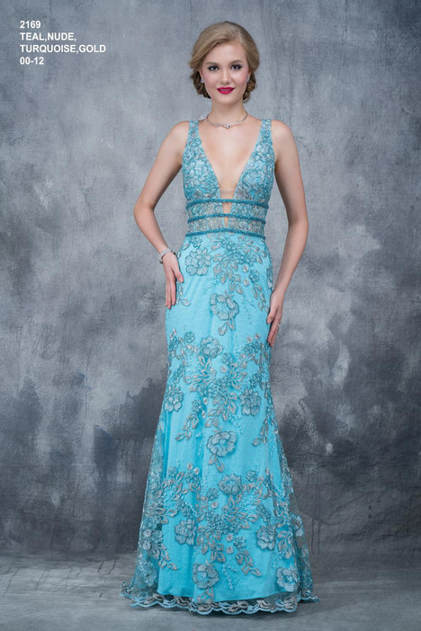 2169 (teal) gown from the 2018 Nina Canacci collection, as seen on dressfinder.ca