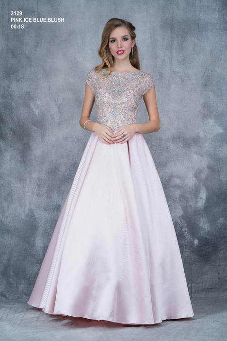 3129 (pink) gown from the 2018 Nina Canacci collection, as seen on dressfinder.ca