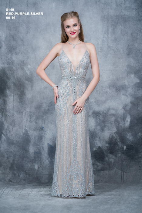 8149 (silver) Prom                                             dress by Nina Canacci