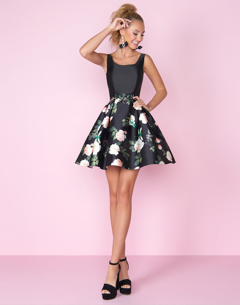 30407C (Black Floral) Prom                                             dress by Mac Duggal : After Five