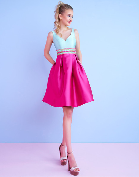 30420C (Raspberry + Mist) Prom                                             dress by Mac Duggal : After Five