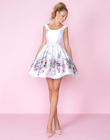 66552C (Ivory Floral) Prom dress by Mac Duggal : After Five