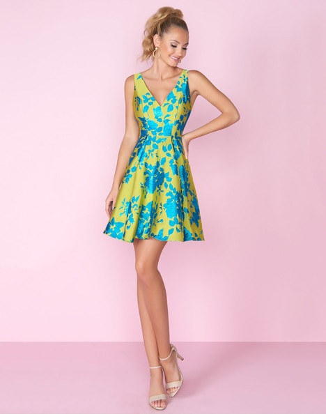 8875C (Teal Multi) Prom                                             dress by Mac Duggal : After Five