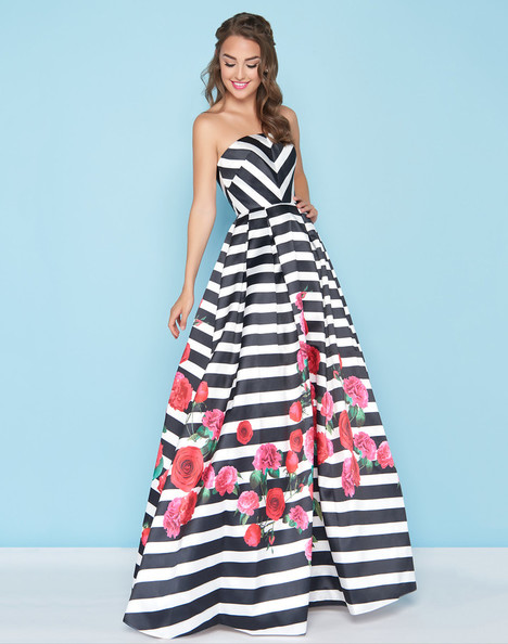 40597H (Black + White) Prom                                             dress by Mac Duggal : Ball Gowns