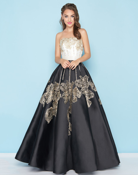 40737H (Ivory + Black) Prom                                             dress by Mac Duggal : Ball Gowns