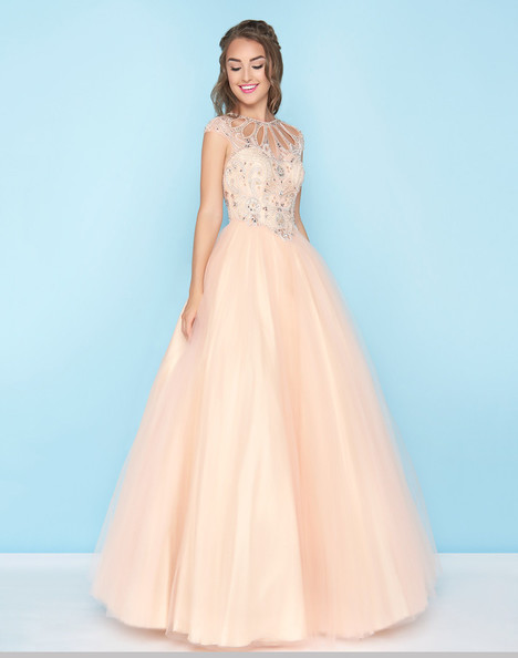 40750H (Peach) Prom                                             dress by Mac Duggal : Ball Gowns
